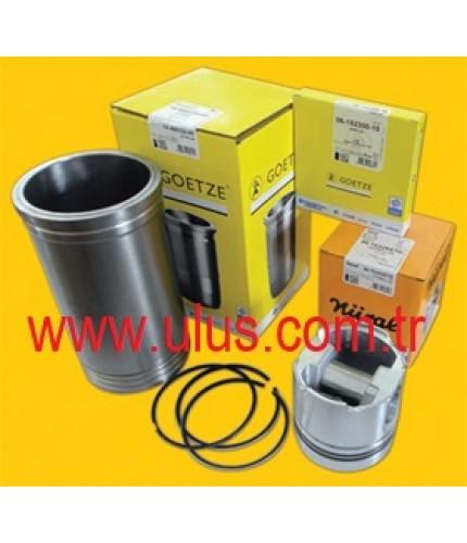 6207-31-2141 Piston + Pin + Snap Ring + Piston Ring Set SAA6D95 Engine KOMATSU