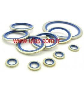 M14 Bonded Seal Blue NBR 90 22 x 14,7 x 1,5