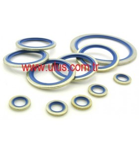 M27 Bonded Seal Blue NBR 90 36 x 27,2 x 2,0