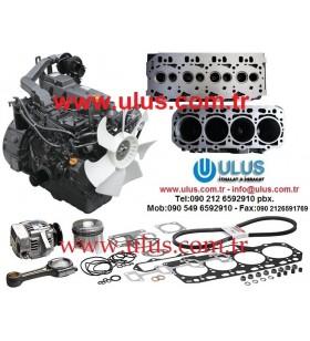 1DZ-III TOYOTA Engine Kit: Piston, Ring, Liner, Bearings, Valve, Guide, Oil pump, Water pump, Overhaul Gasket set